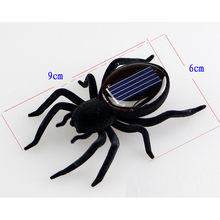 2019 Toy For Kids 1 Set Mini Solar Powered Spider Robot Toy Solar Powered Toy Gadget Gift F418(China)