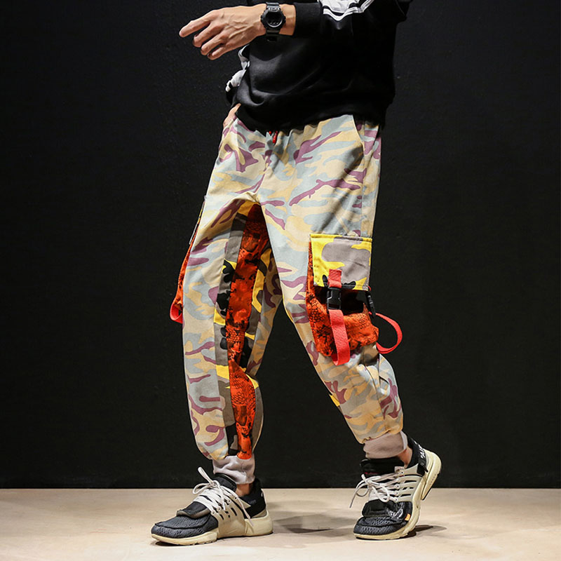 Pantalones de camuflaje Casual Hiphop de calle alta moda para hombre Pantalones de harén sueltos Ropa de baile pantalones de chándal para hombre-in Pantalones tipo cargo from Ropa de hombre on AliExpress - 11.11_Double 11_Singles' Day 1