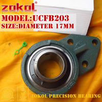ZOKOL bearing UCFB203 UCFB503 Pillow Block Ball Bearing diameter 17mm