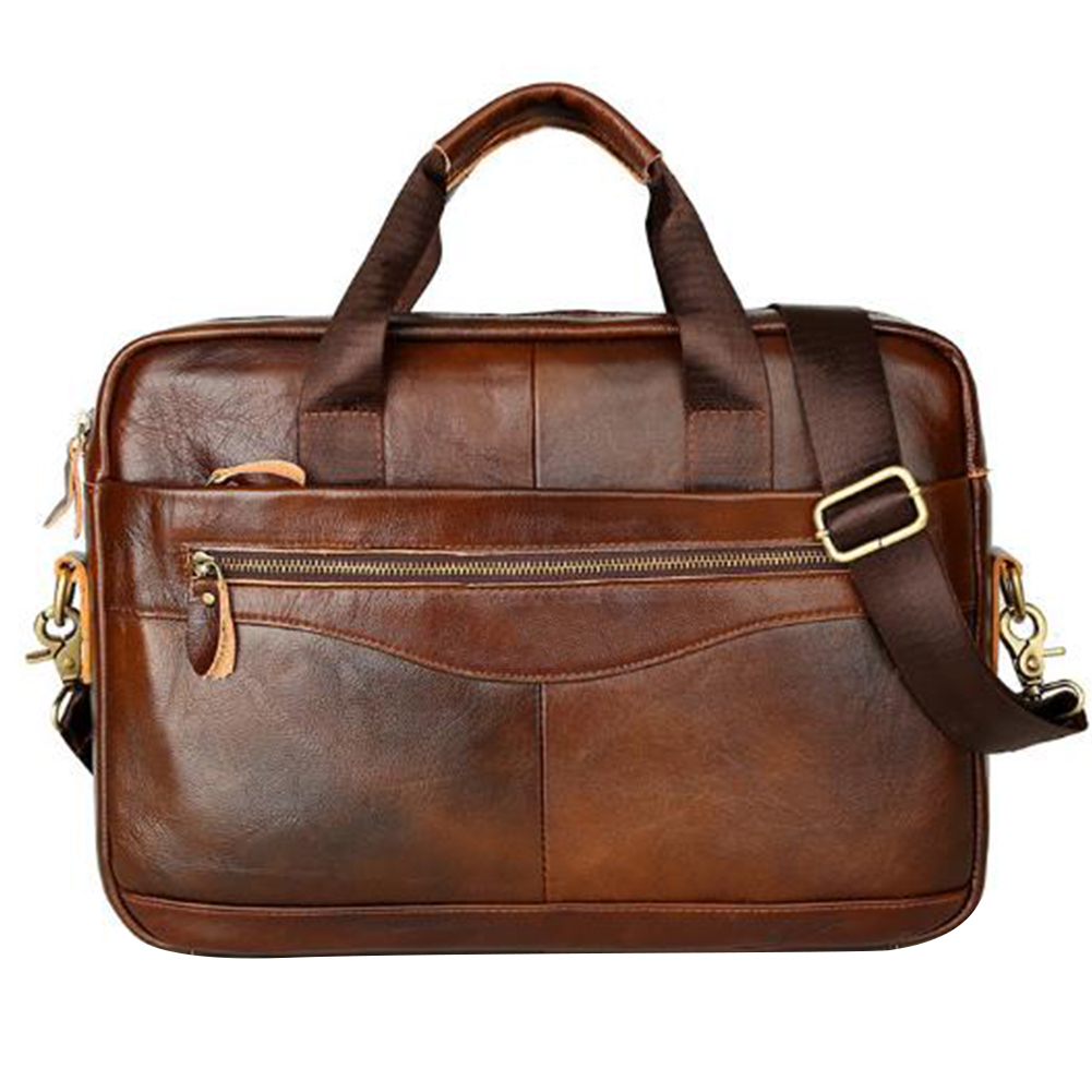 Storage Artificial Leather Business Case Handbag Men Briefcase Solid Work Multifunction With Strap Large Capacity Zipper Square