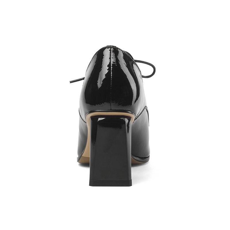 Scarpe Pumps Salu Donna Del Lady Il Sexy Punta Office Della Pompe Da 2019 Autunno A Verniciata Nero Partito Quadrati Pelle Elegante Tacchi Nuovo 4p6w4x