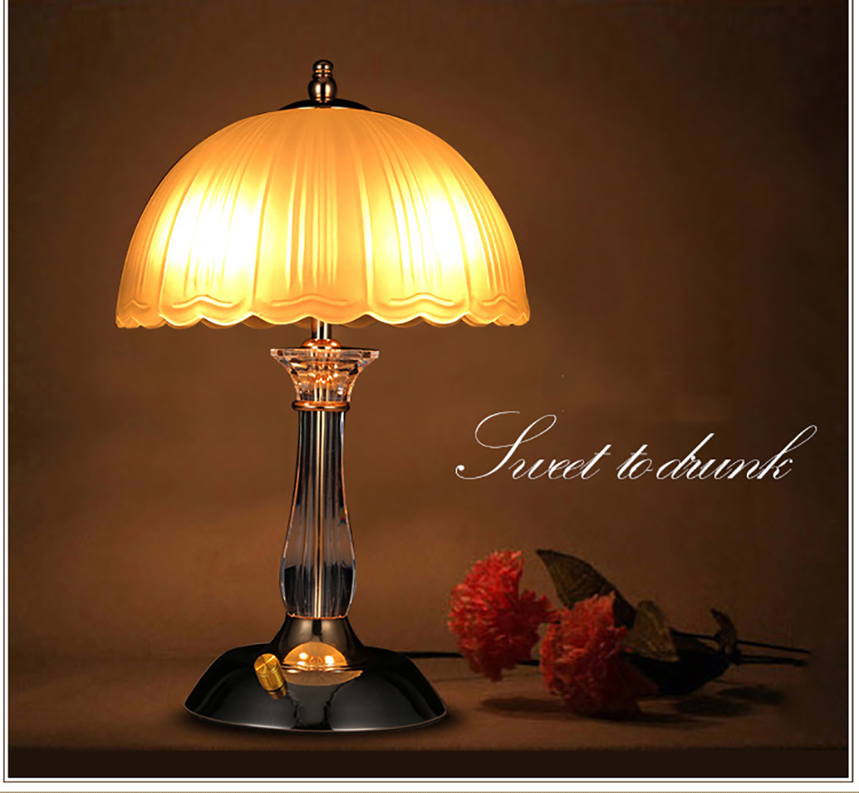Collectibles Led Crystal Desk Lamp Bedroom Bedside Decorate Romantic Modern Table Light Yc A Crystal Table Lamp