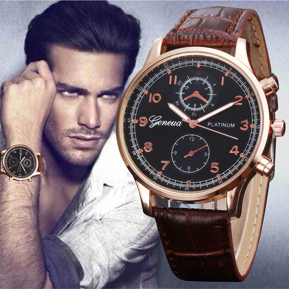 2018 Casual Business Men Watch Retro Design Leather Band Analog Alloy Quartz Wrist Watch Hot Sale Relogio Masculino Sport Clock hot new fashion quartz watch women gift rainbow design leather band analog alloy quartz wrist watch clock relogio feminino