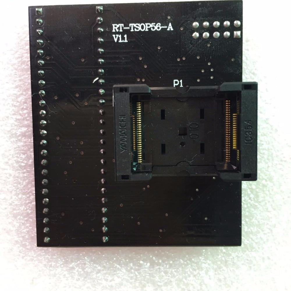 RT-BGA64-01 V2.0 EMMC NW267 BGA64 socket Adapter pitch 1.0MM 11X13 limiter framer For RT809H ProgrammerRT-BGA64-01 V2.0 EMMC NW267 BGA64 socket Adapter pitch 1.0MM 11X13 limiter framer For RT809H Programmer