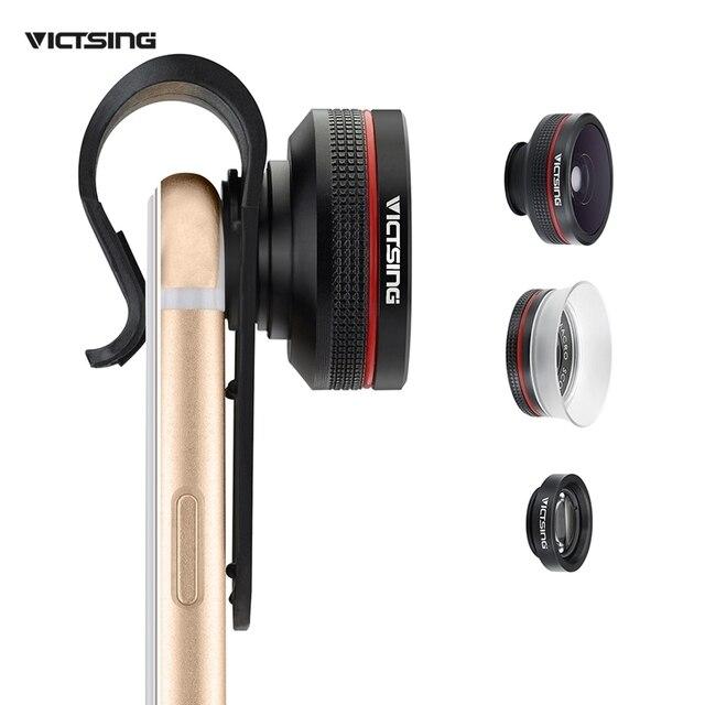 VicTsing Clipe 12X 24X Super Macro Macro 3 Em 1 lente Grande Angular Macro lente olho de peixe para iphone 6 s 6/plus 5S samsung htc sony lg (sem caixa)