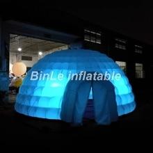 Vroča prodajna orjaška napihljiva šotorska kupola z vodenim napihljivim šotorom za igloo šotor z zračnim pihom kupole za zabave za oglaševanje dogodkov