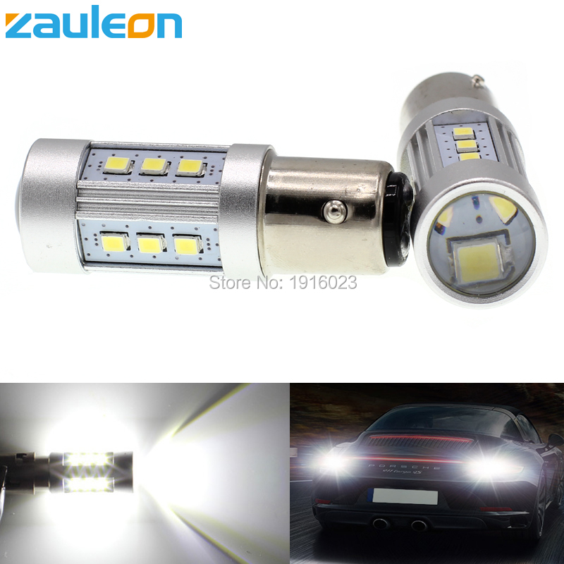 Zauleon 2pcs S25 1156 1157 P21W P21/5W 1038 lumens LED White for DRL Reverse Backup Bulb High Power Car LED Light styling 2pcs brand new high quality superb error free 5050 smd 360 degrees led backup reverse light bulbs t15 for jeep grand cherokee