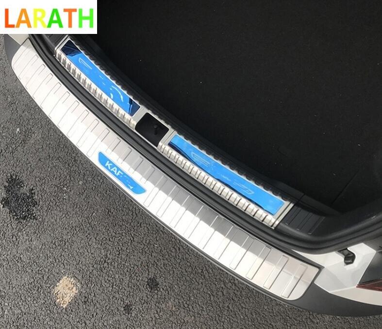 Для Skoda Karoq 2017 2018 из нержавеющей стали автомобильные арьергарды багажник задний бампер педаль Пластина Автомобильные Стайлинг Аксессуары 3 вида цветов|Хромирование|   | АлиЭкспресс