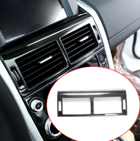Stainless Steel Black Brushed Center Air Conditioning Vent Frame Trim For Land Rover Discovery Sport 2015 2017