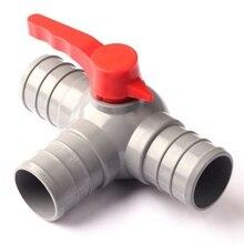 G 2 /50mm Nhỏ Giọt Thủy Lợi Băng Bằng Tee Bóng Van Nối PVC Chất Liệu Dày Bền Thương Hiệu SW micro Phun/Nhỏ Giọt Phụ Kiện