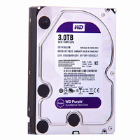 WD фиолетовый 3 ТБ SATA 6,0 ГБ/сек. 3,5 Внутренний жесткий диск для видеонаблюдения камера AHD DVR IP NVR WD30EJRX