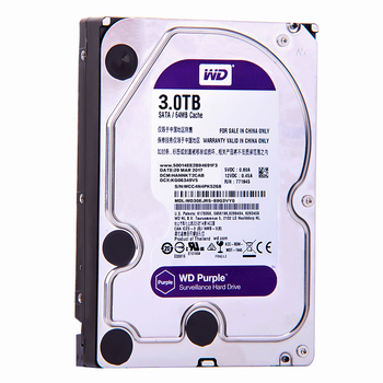 """WD Purple 3TB SATA 6.0Gb/s 3.5"""" Internal Hard Drive for cctv Camera AHD DVR IP  NVR WD30EJRX"""
