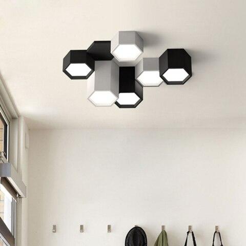 moderno minimalista diy combinacao hexagono design