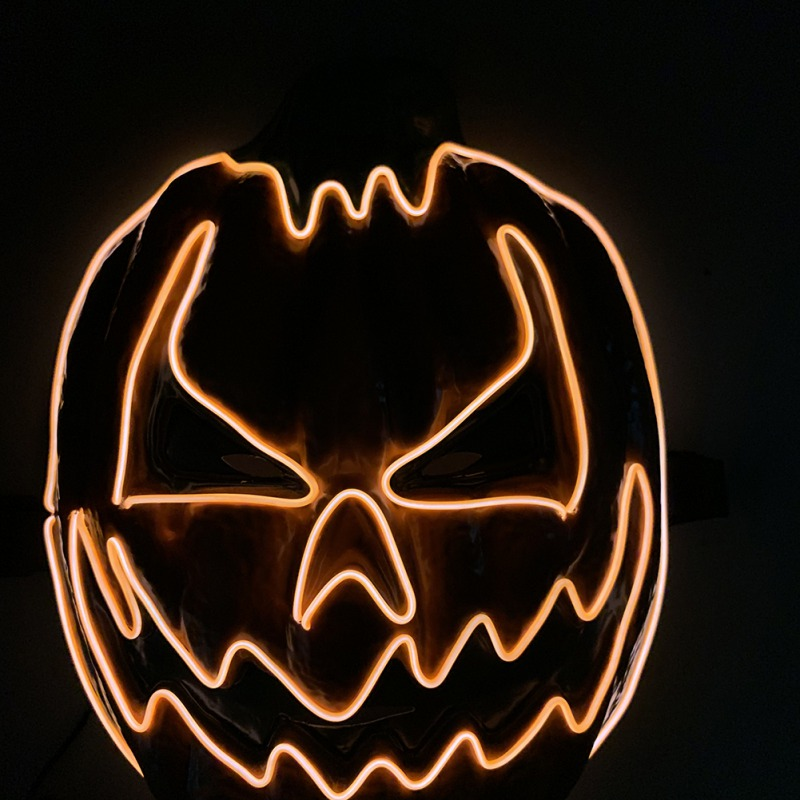 Light Up Pumpkin Halloween Mask 4