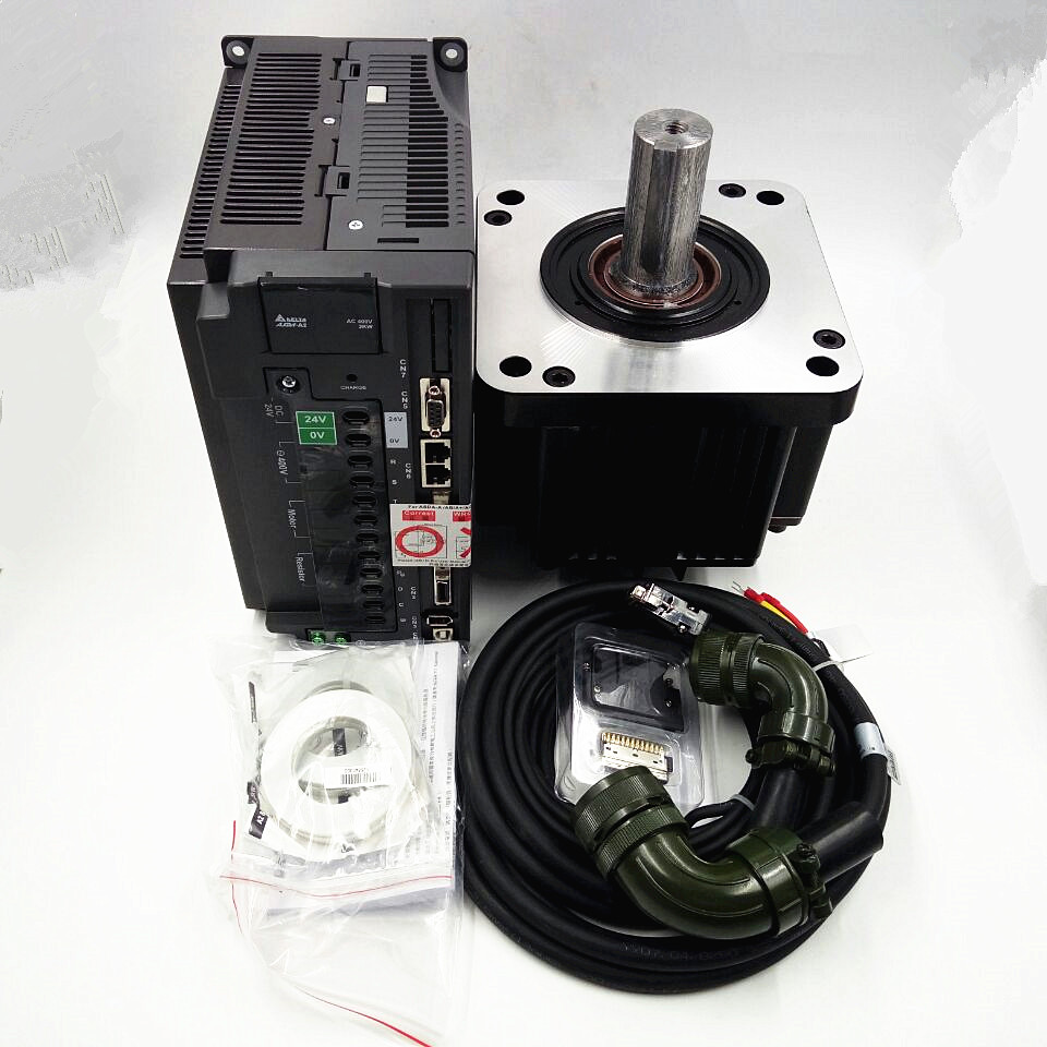 CNC Delta 2KW AC Servo Motor Drive kits System 400V 9.55NM 180mm with 3M Cable ECMA-K11820RS+ASD-A2-2043-M new girls ballet costumes sleeveless leotards dance dress ballet tutu gymnastics leotard acrobatics dancewear dress
