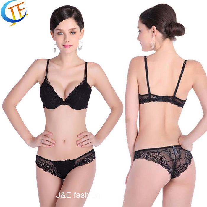 a658491953d New Hot Sexy Lady Girl Women Push Up Deep V Lace Bra Sets With Briefs  Knickers B C Cup 4 colors