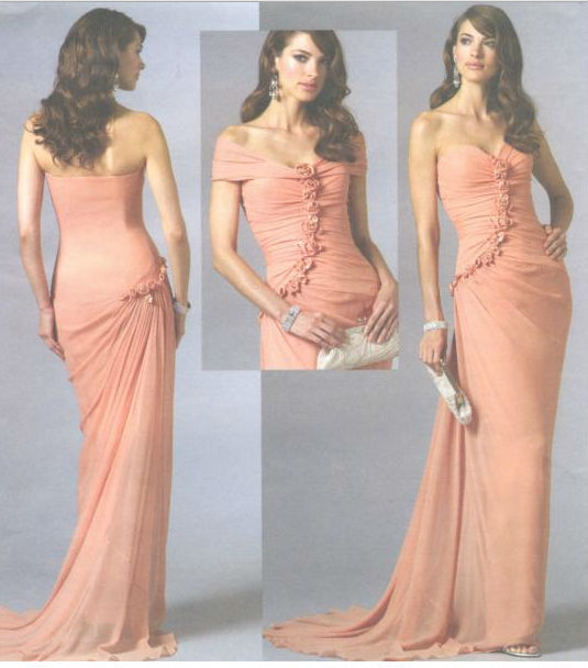 2014misses Evening Dress Detachable Shrug Sewing Pattern Sassoon