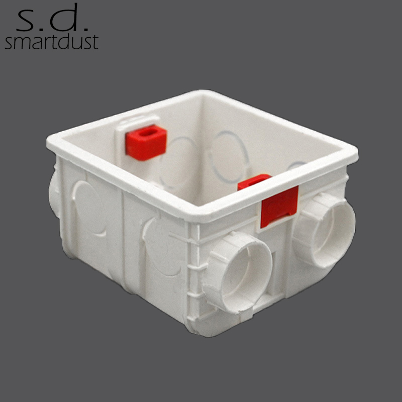 Smartdust Adjustable Mounting Box Internal 86mm 83mm 50mm For 86 Type Switch and Socket Wiring Back