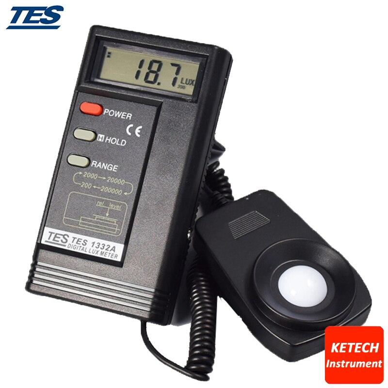 TES1332A Illuminance Meter Digital Lux Meter fast arrival victor illuminance meter vc1010b meter meter lumens tester illuminance meter brightness table