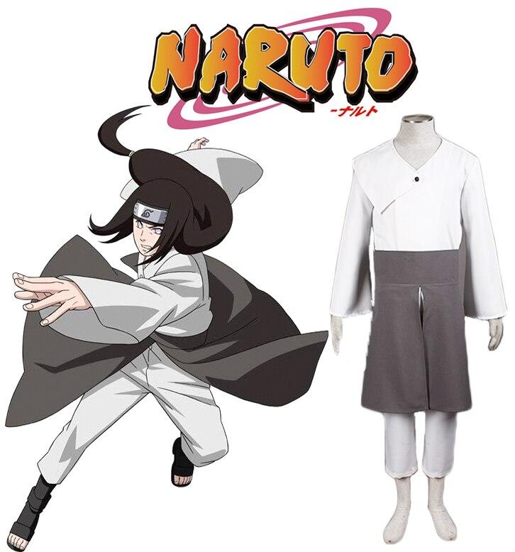Free Shipping Naruto Hyuga Neji Kimono Anime Cosplay Costume