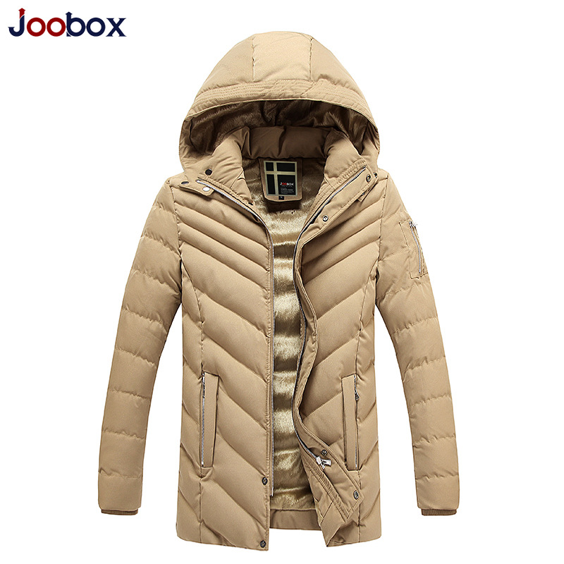 JOOBOX Brand Winter Jacket 2016 New Fashion Slim Long Parka Men Thickening Hooded camperas hombre Big