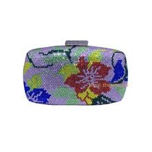 Blume Strass Kupplungen Frauen und Kristall Abendtaschen und handtaschen Kristall Abendtaschen Großhandel
