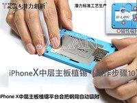 Para o iphone X motherboard camada média rápido plantio estanho fixo plataforma reparação planta estanho motherboard repair tool