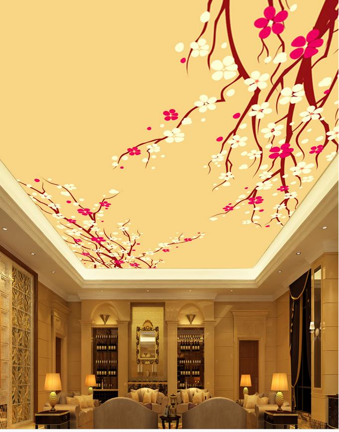 Online get cheap classic ceiling design for Mural 3d simple