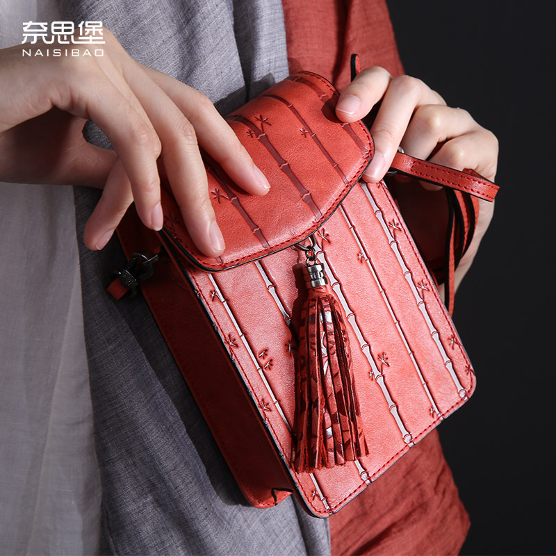 High quality Genuine Leather lady Messenger bag Luxury brand Coin Purse Mini pattern shoulder bag Mobile phone bag women bags 100% genuine leather men 5 5 6 5 inch cell mobile phone case bags hip design belt purse high quality waist hook coin purse bag