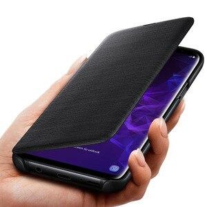 Image 5 - סמסונג המקורי LED להציג מקרה ארנק עבור Samsung Galaxy S9 G9600 S9 + S9 בתוספת G9650 חכם Flip כיסוי