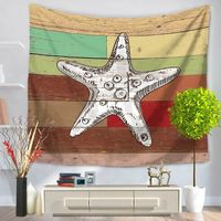 CAMMITEVER Hippocampus Shells Seastar Wall Tapestry Hanging Beach Picnic Throw Rug Blanket Camping Tent Travel Sleeping Pad