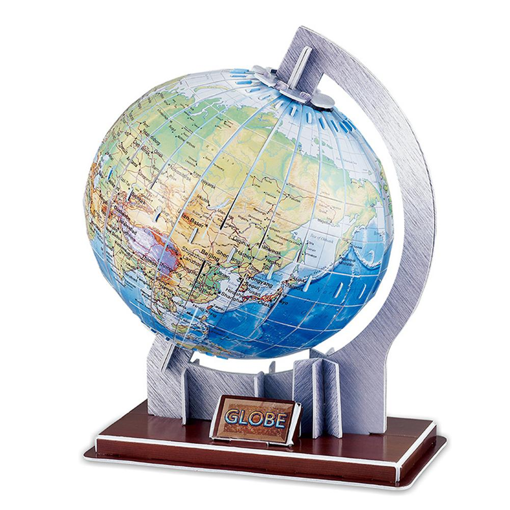 LeadingStar DIY Paper Puzzle Toys World Globe Model Jigsaw Puzzle Educational Paper Craf ...