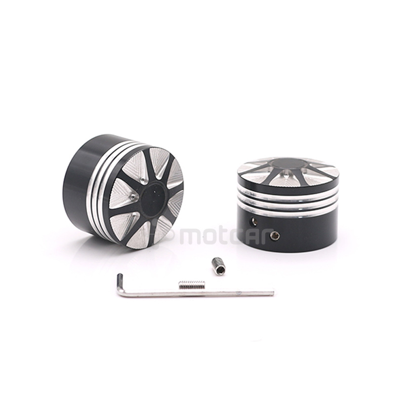 Chrome Front Axle Nut Cover Bolt For Harley Touring Softail Road King Glide FLTR