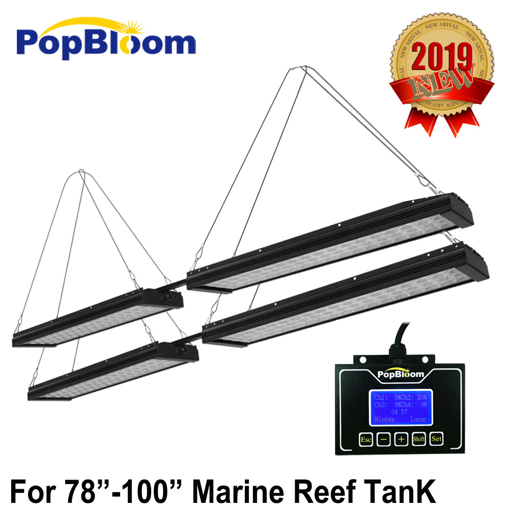 PopBloom aquarium led lighting for reef tank marine led aquarium 240cm coral Reef light Tank lps