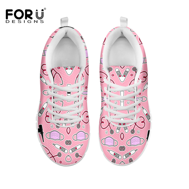 FORUDESIGNS Sneakers Flat-Shoes Spring Air-Mesh Female Breathable Casual Cartoon Women