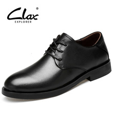 CLAX Mens Oxfords Genuine Leather Spring Autumn Dress Shoe Male Formal Wedding chaussure homme luxury brand