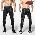 2016 Medias de Compresión Hombres Pantalones Casuales Pantalones de Camuflaje Culturismo Crossfit Mans de Alta Elasticidad Polainas Flacas