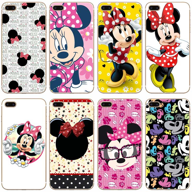 H145 Minnie Mouse Transparent Hard Thin Case Cover For Apple iPhone 4 4S 5 5S SE 5C 6 6S 7 8 X Plus