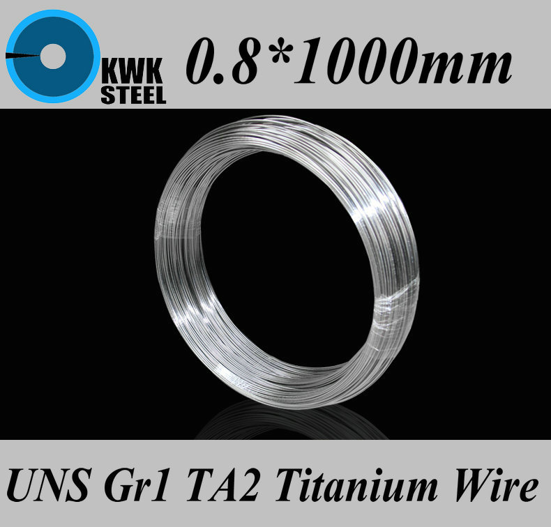 0.8*1000mm Titanium Wire UNS Gr1 TA2 Pure Titanium Ti Wire Industry Or DIY Material Free Shipping