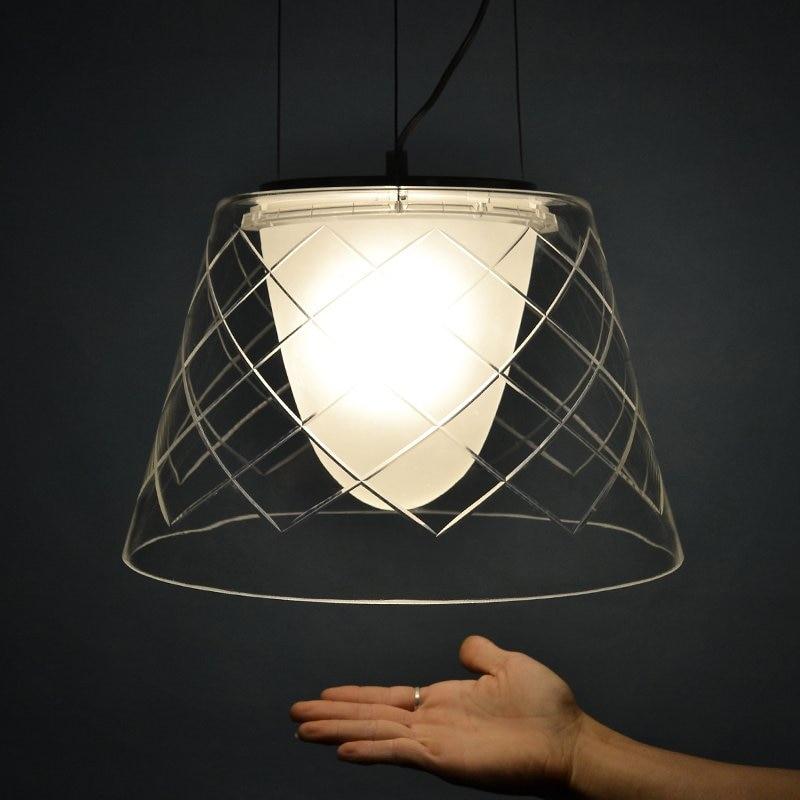 decorative dove design transparent glass pendant light vinta