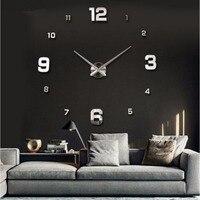 Klassische Wandaufkleber Home Decor Poster Acryl Spiegel Wanduhr 3D Poster Wohnzimmer Dekor Handwerk Wanduhr D9440