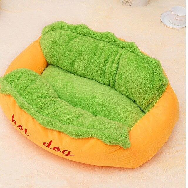 Hot Dog Bed Pet Cute Dog Beds For Small Dogs Warm Cat Sofa Cushion Soft Pet Sleeping Bag Pet Mat Funny Hot Dog Cushion 4