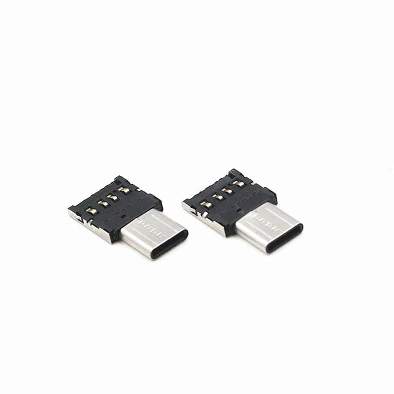 MINI Micro V8 Adapter Micro Android untuk USB 2.0 OTG Kabel Adapter untuk Xiaomi Huawei ZTE LG U Disk Keyboard Mouse Logam Adaptor