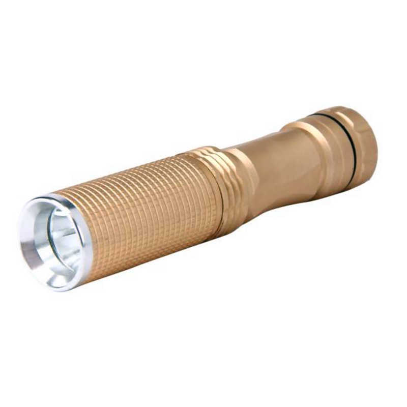 powerful led flashlight 7W XPE-Q5 LED 14500 AA Flashlight Portable Torch Champagne Mini laser pointer led torch light #4S12 (3)