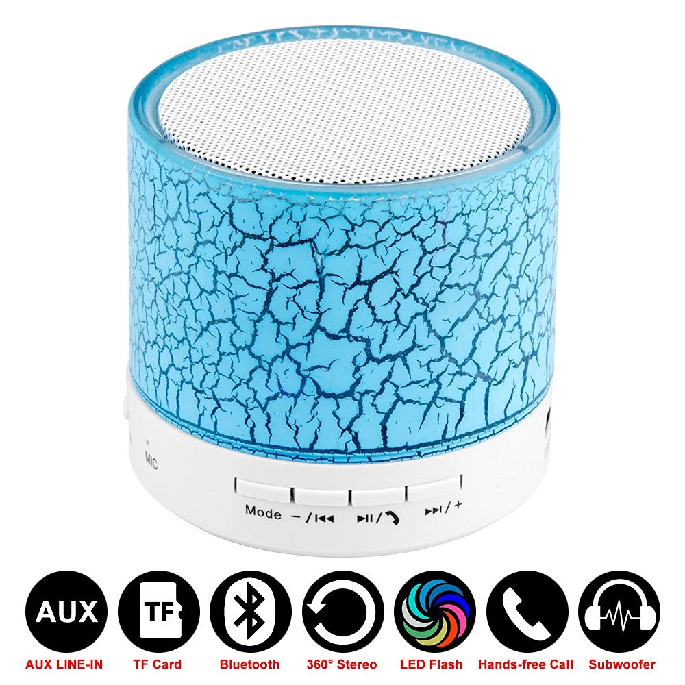 Красочные светодиодный мини Беспроводной Bluetooth Динамик A9 TF карты usb fm Портативный музыка Динамик S ручной звонок бесплатный AUX с микрофоном д...