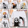 Moda camiseta Cosplay Dos Desenhos Animados do Anime BLEACH Ishida Uryuu Manga Longa T-Shirt Anime Kurosaki Ichigo homens tshirts Tops YD-46