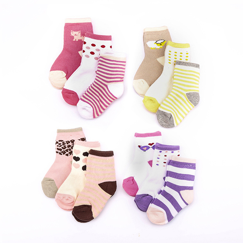 Size 4-7 12 Pairs Ladies//Women//Girls Horse Design Colored Cotton Fashion Socks