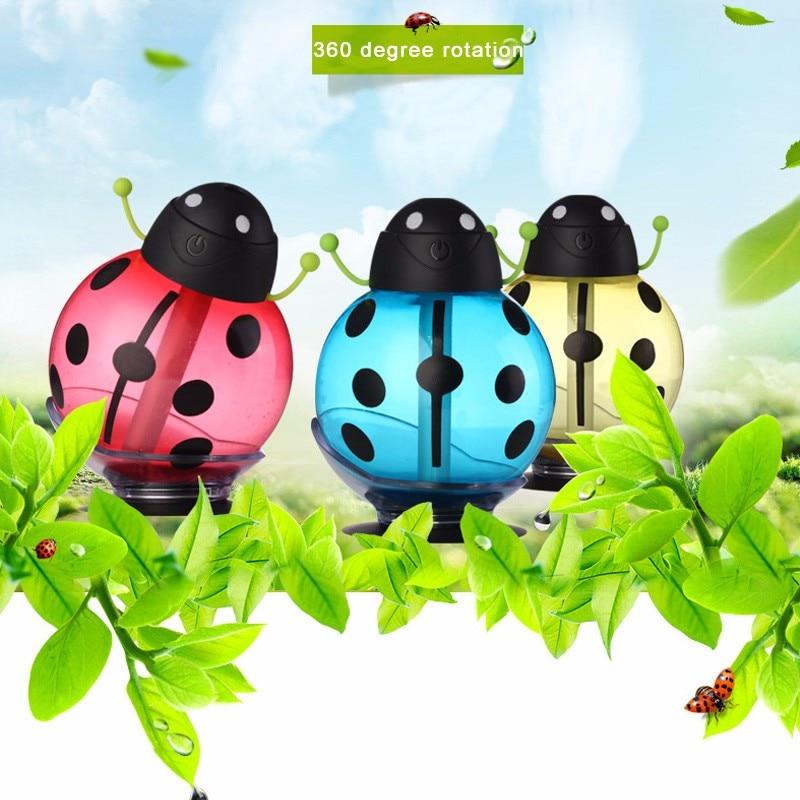 GX02 12,Small ladybug car usb Humidifier incubator diffuser led Mini Air Humidifier Air Diffuser Portable Water Aroma Mist Maker