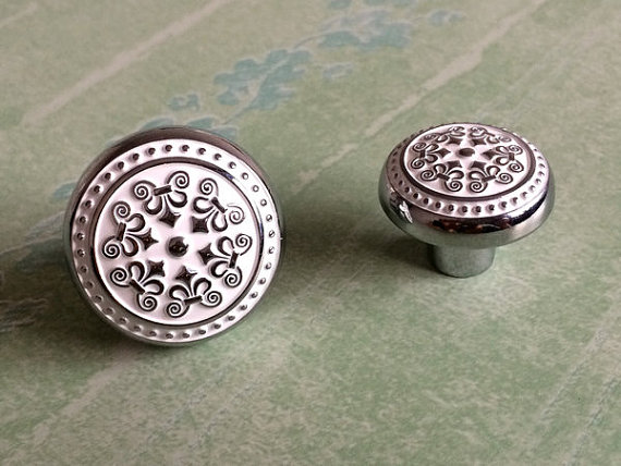 shabby chic dresser knobs drawer knobs pulls handle white silver rh aliexpress com