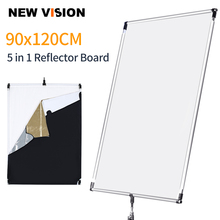 90 x 120cm 35in x  47in Sun Scrim Large 5in1 Black Silver Gold White Diffuser Reflector Aluminum Alloy Frame for Photography